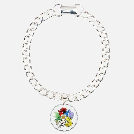 Eastern Star Floral Emblems Bracelet