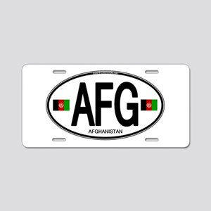 Afghanistan Euro Oval Aluminum License Plate