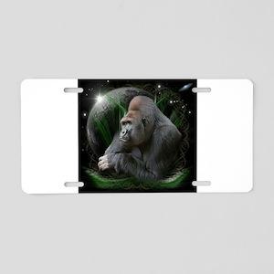 Space Gorilla Aluminum License Plate