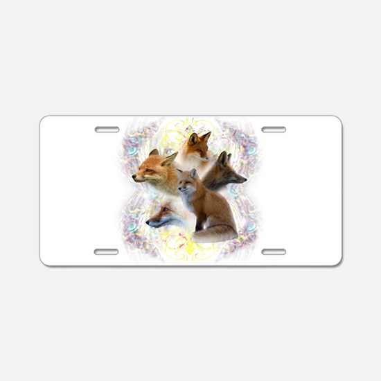 Foxes Aluminum License Plate
