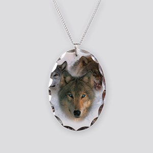 Watchful Eyes Necklace Oval Charm