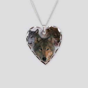 Watchful Eyes Necklace Heart Charm