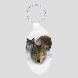 Watchful Eyes Aluminum Oval Keychain