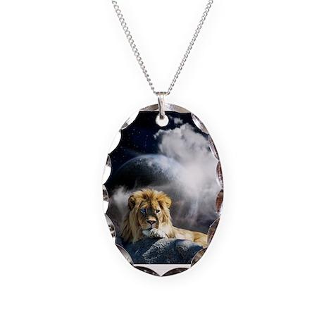 Leo Moon Necklace Oval Charm