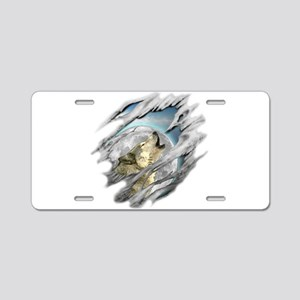 Torn Wolf Aluminum License Plate