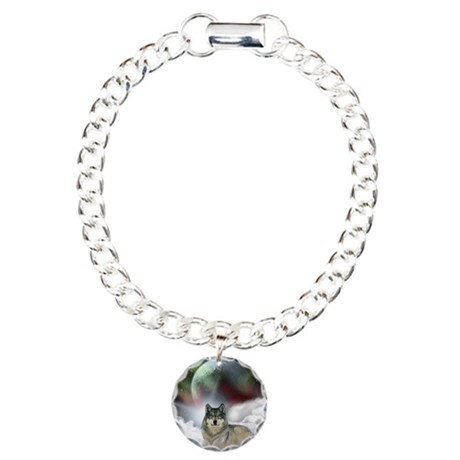 Fantasy Wolf Charm Bracelet, One Charm