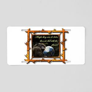 Chimp Planet Aluminum License Plate