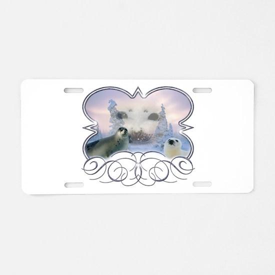 Harp Seal Aluminum License Plate