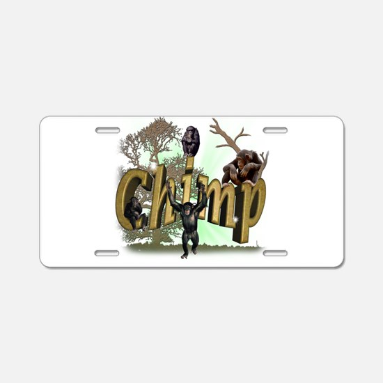 Chimps Aluminum License Plate