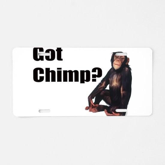 Got Chimp Aluminum License Plate