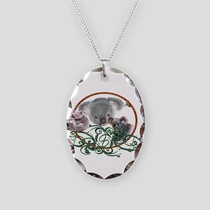 Koala Bear Necklace Oval Charm