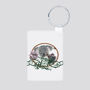 Koala Bear Aluminum Photo Keychain