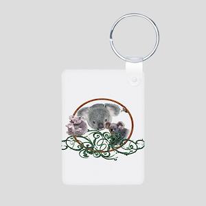 Koala Bear Aluminum Photo Keychain