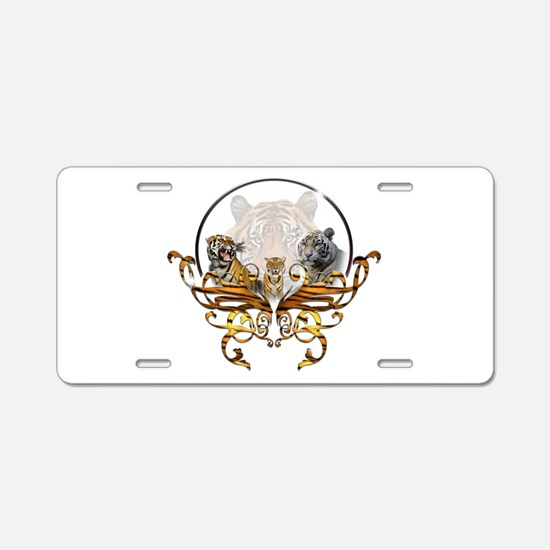 Tigers Aluminum License Plate
