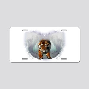 Leaping Tiger Aluminum License Plate
