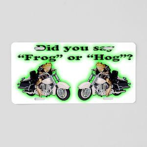 Frog Hog Aluminum License Plate