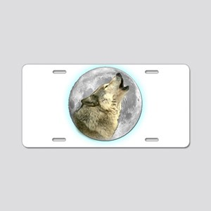 Howling Wolf Aluminum License Plate