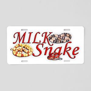 Milk Snake Aluminum License Plate