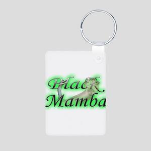 Black Mamba Aluminum Photo Keychain