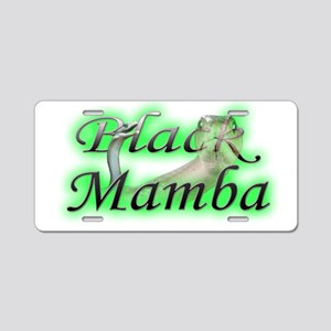 Black Mamba Aluminum License Plate