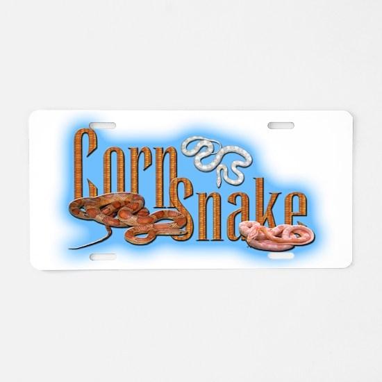 Corn Snake Aluminum License Plate