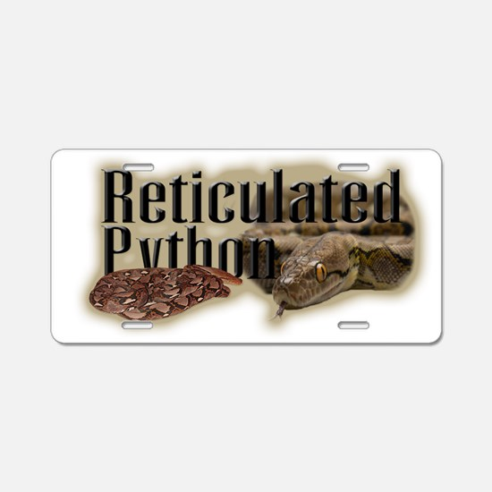 Reticulated Python Aluminum License Plate
