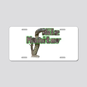 Nile Monitor Aluminum License Plate