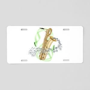 Soprano Saxophone Aluminum License Plate