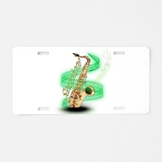 Saxophone Wrap Aluminum License Plate