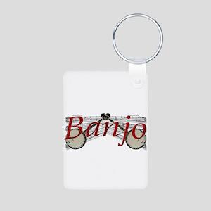 Banjo Aluminum Photo Keychain