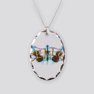 Cello Necklace Oval Charm