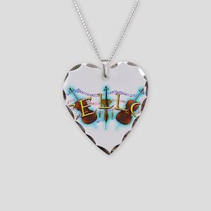 Cello Necklace Heart Charm