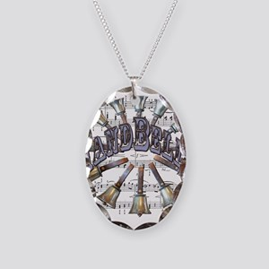 Handbells Necklace Oval Charm