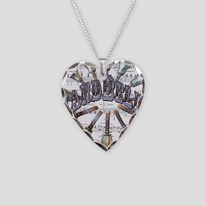 Handbells Necklace Heart Charm