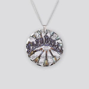 Handbells Necklace Circle Charm