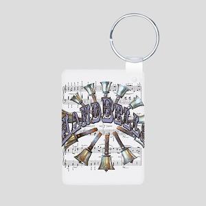 Handbells Aluminum Photo Keychain