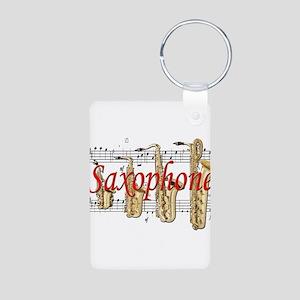 Saxophone Aluminum Photo Keychain