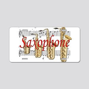 Saxophone Aluminum License Plate