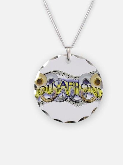Sousaphone Necklace Circle Charm