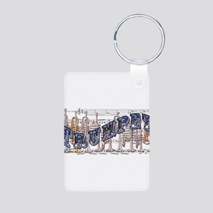 Trumpet Aluminum Photo Keychain