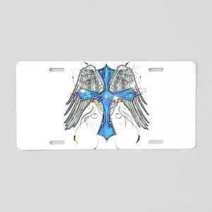 Flying Cross Aluminum License Plate