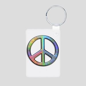 Peace Aluminum Photo Keychain