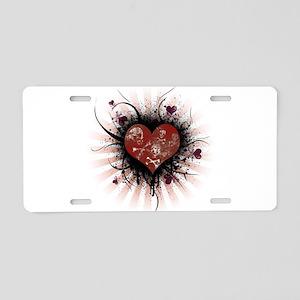 Death Heart Aluminum License Plate