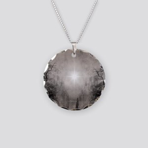 Follow The Light Necklace Circle Charm