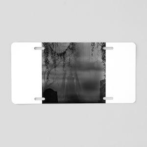 Dark Places Aluminum License Plate