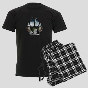 Wolf Print Men's Dark Pajamas