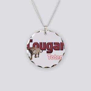 Cougar Necklace Circle Charm