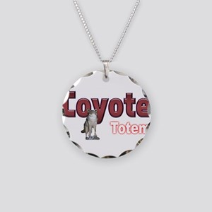 Coyote Necklace Circle Charm