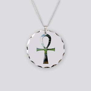 Ankh Necklace Circle Charm