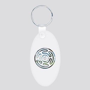 Hecate's Wheel Aluminum Oval Keychain